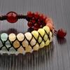 Unisex Natural Stone Rainbow Unity Beaded Bracelet