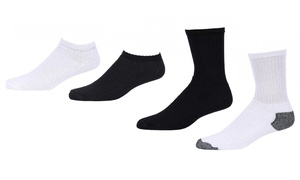 Men's Premium Crew and No-Show Socks (12-Pack)
