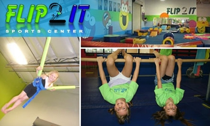 Flip 2 It Sports Center - Industrial Area East: $30 for a Four-Week Class and a One-Year Membership ($101 Value) OR $90 for a 90-Minute Birthday Party for Up to 14 Kids ($185 Value) at Flip 2 It Sports Center