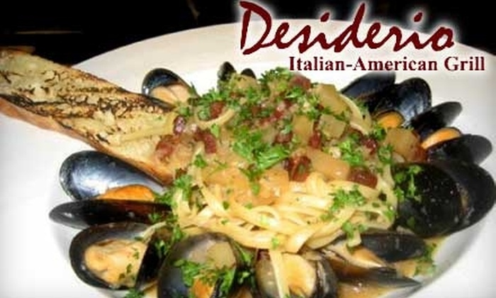 Desiderio Italian-American Grill - Gainesville: $15 for $30 Worth of Fresh Cuisine and Drinks at Desiderio Italian-American Grill