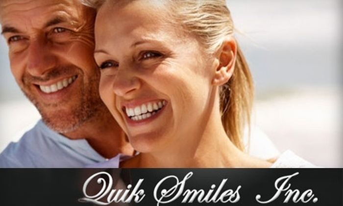 Quik Smiles - Multiple Locations: $49 For a Teeth Whitening Session at Quik Smiles ($114 Value)