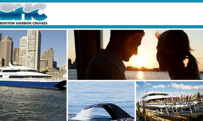 Boston Harbor Cruises - North End: $12 for a Sunset Cruise with Boston Harbor Cruises