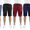 Men's Moisture-Wicking Moto Shorts with Zipper Pockets