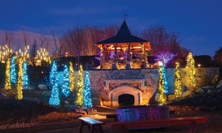 Garden Holiday Event Admission Daniel Stowe Botanical Garden Groupon