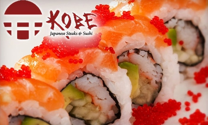 Kobe Japanese Steak & Sushi - Shockoe Slip: $15 for $30 Worth of Cuisine at Kobe Japanese Steaks & Sushi