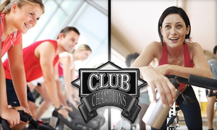 """Club Champions - Deerfield: $25 for Five """"Spinning"""" Stationary-Bike Classes at Club Champions (a $75 Value)"""