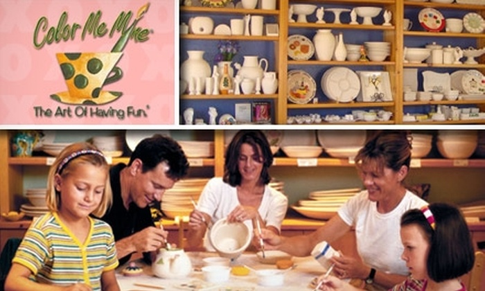 Color Me Mine - Multiple Locations: $19 for $40 Worth of Customized Ceramic Creations and Studio Fees at Color Me Mine