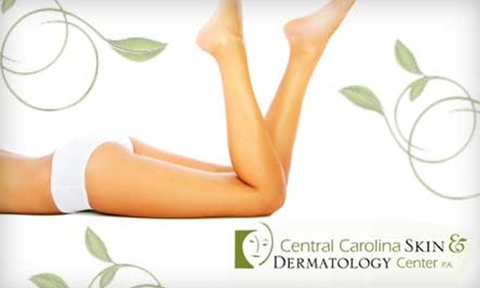 Central Carolina Skin & Dermatology - Mebane: $115 for Three Laser Hair Removal Treatments at Central Carolina Skin & Dermatology (Up to $600 Value)