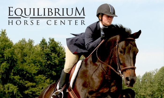 Equilibrium Horse Center - 2: $30 for a One-Hour Private Horse-Riding Lesson at Equilibrium Horse Center ($65 Value)