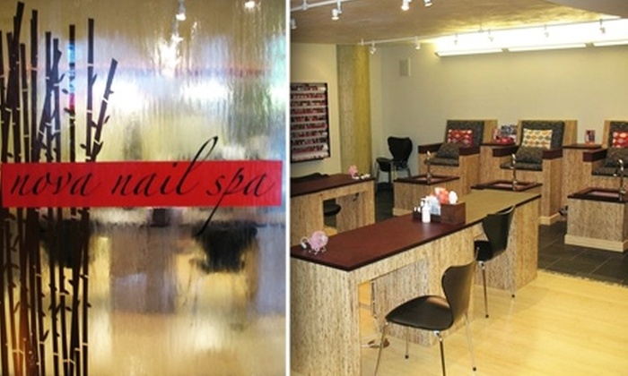 Nova Nail Spa - SoMa: $28 for Revitalizing Organic Mani-Pedi at Nova Nail Spa