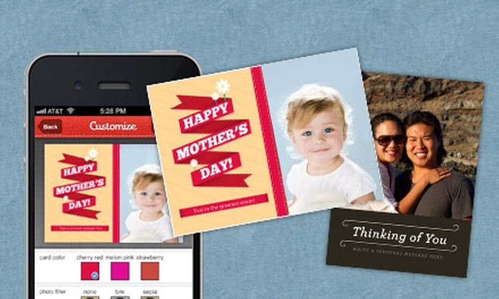 Sincerely Ink: $10 for $20 Worth of Custom Photo Cards from Your Smartphone from Sincerely Ink