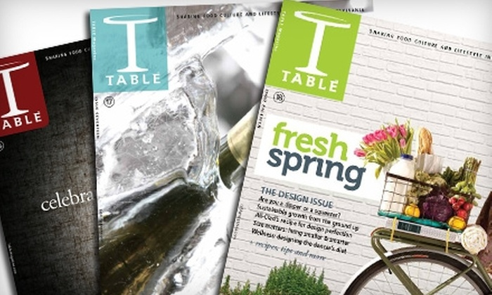 """TABLE magazine: $10 for Two-Year Subscription to """"Table"""" Magazine ($29.90 Value)"""