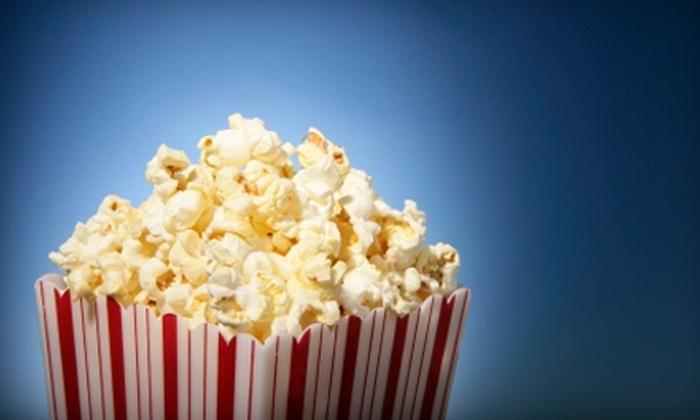 BlueLight Cinemas 5 - Cupertino: Movie Tickets, Popcorn, and Drinks at BlueLight Cinemas 5 in Cupertino. Three Options Available.