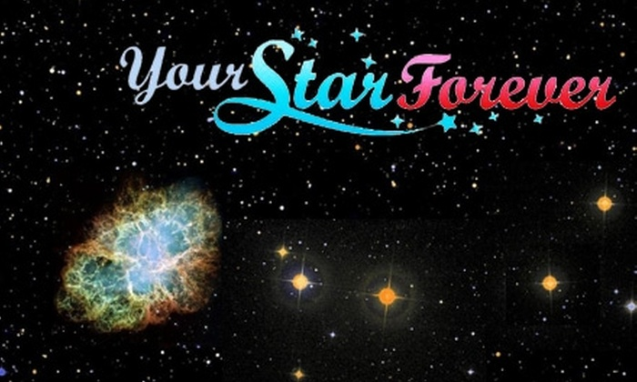 Your Star Forever: $29 for Star Dedication and a Commemorative Certificate from Your Star Forever ($79 Value)