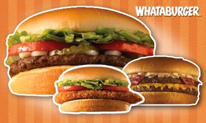 Whataburger - Multiple Locations: $5 for $10 Worth of Whataburgers, Whatachick'ns, Shakes, Breakfast, and More at Whataburger. Choose from Eight Locations.