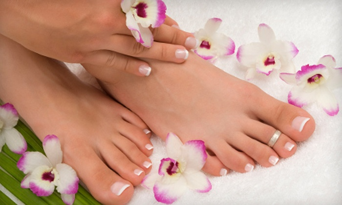 7th Heaven Hair Salon - Tampa Bay Area: $27 for a Shellac Manicure and Pedicure at 7th Heaven Hair Salon in Largo ($55 Value)