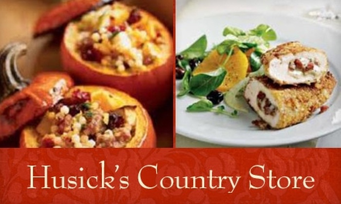 Husick's Country Store - Clarksburg: $50 for a Four-Course Wine-Pairing Dinner for One Person at Historic Husick's Country Store (Up to $178 Value)