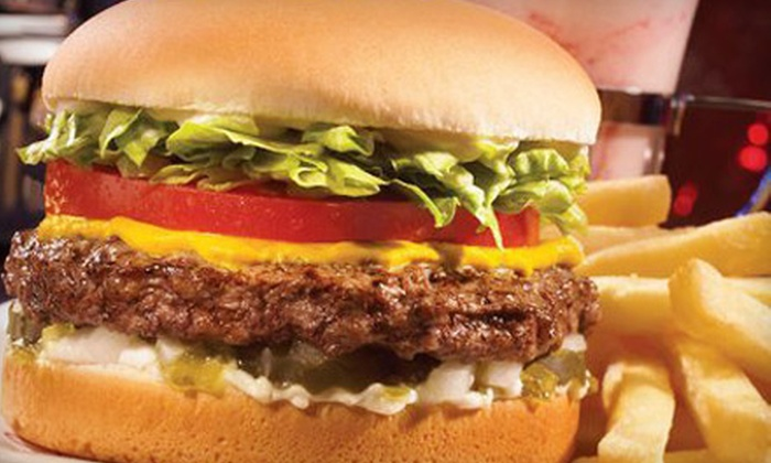 Johnny Rockets - Naperville Crossings: Burger Meal for Two, Four, or Six at Johnny Rockets in Naperville