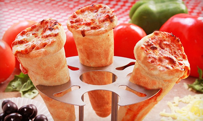 The Mad Italian - Multiple Locations: $8 for Two Zazzu Hot Pizza Cones and Two Soups or Side Salads at The Mad Italian (Up to $17.98 Value). Two Locations Available.