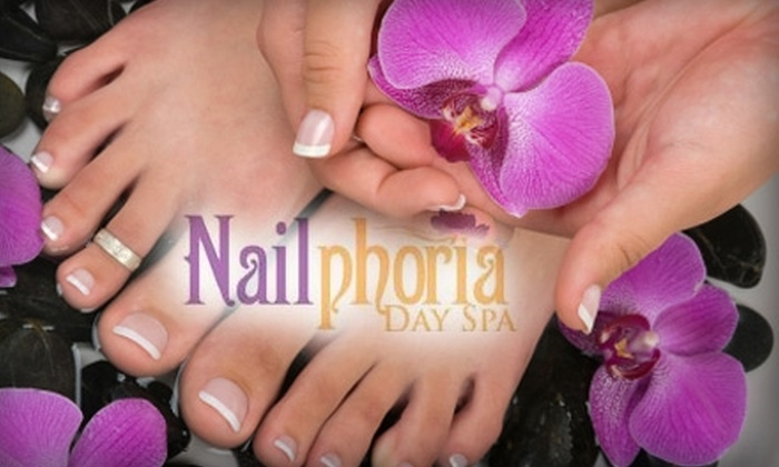 Nailphoria Day Spa - Chinatown: $25 for One Papaya and Green-Tea Relax Mani-Pedi at Nailphoria Day Spa ($55 Value)