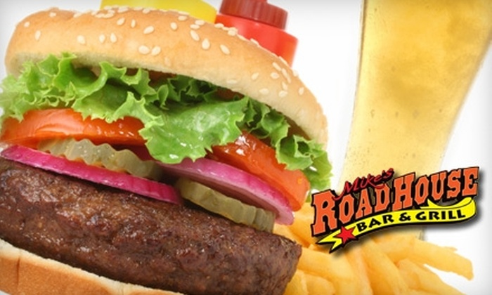 Mike's Roadhouse Bar & Grill - Modesto: $15 for $30 Worth of American Fare and Drinks at Mike's Roadhouse Bar & Grill