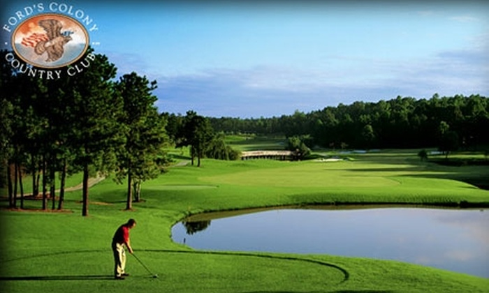 Ford's Colony Country Club - Powhatan: $25 for 18 Holes of Golf with Cart and Bucket of Range Balls ($56.50 Value) or $45 for Two Rounds of Golf with Cart and Two Buckets of Range Balls ($103 Value) at Ford's Colony Country Club