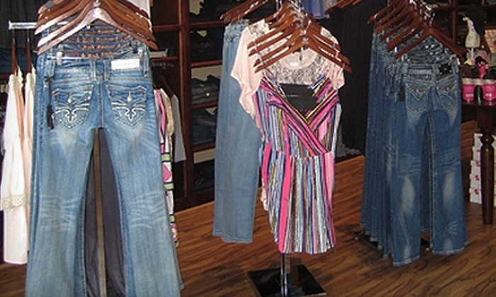 Trendy Tag Boutique - Deer Valley: $40 for $80 Worth of Designer Clothing and Accessories at Trendy Tag Boutique