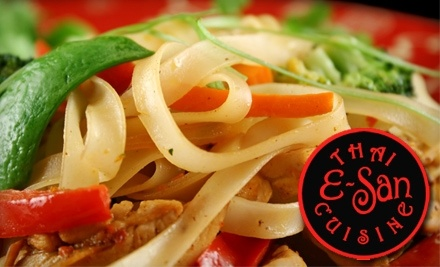$20 Groupon to E-San Thai Cuisine - E-San Thai Cuisine in Portland