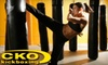 CKO Kickboxing - Copiague: $49 for a Month of Unlimited Kickboxing ($99 Value) or $15 for a Pair of Heavy-Bag Boxing Gloves ($25 Value) at CKO Kickboxing Copiague