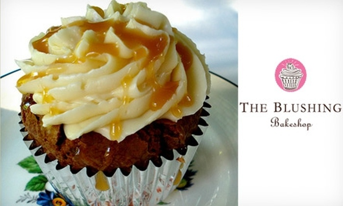 The Blushing Bakeshop - Ballantyne West: $5 for Four Gourmet Cupcakes from The Blushing Bakeshop
