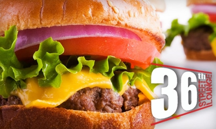 36th Street Lounge - Wyoming: $10 for $20 Worth of Eclectic Pub Fare and Drinks at 36th Street Lounge