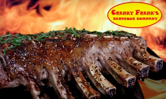 Cranky Franks Barbeque Company - Fredericksburg: $5 for $10 Worth of Slow-Cooked Mesquite Meats and Drinks at Cranky Frank's Barbeque Company in Fredericksburg
