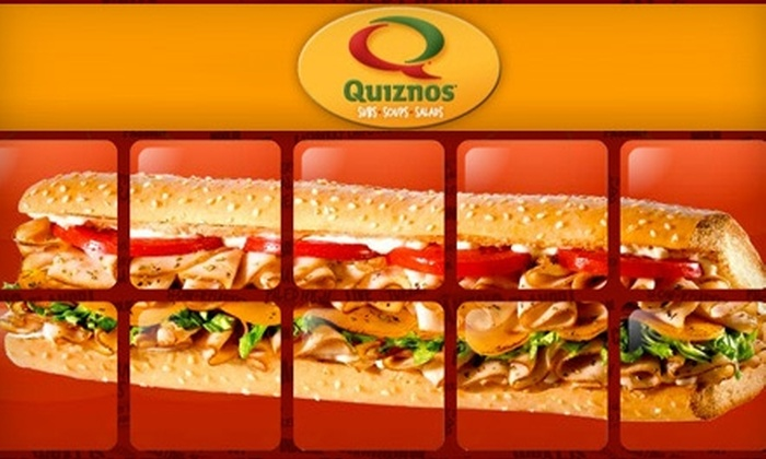 Quiznos Sub Las Vegas - Sunrise Manor: $35 for a Sub Party Platter, Plus Salad, 10 Chips, and 10 Cookies, from Quiznos ($74 Value)