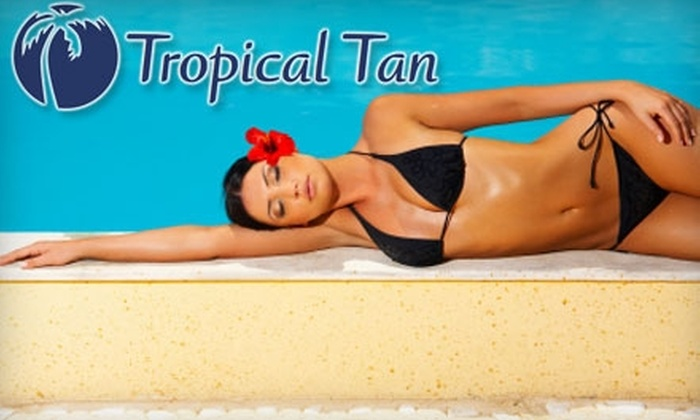 Tropical Tan - Multiple Locations: $35 for One-Month Ultra Package of Unlimited High-Pressure Tanning and UV-Free Mystic Tanning at Tropical Tan