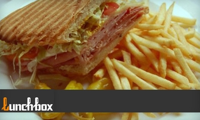 Lunchbox Restaurant - City Center: $12 for $25 Worth of Sandwiches, Pizzas, Mediterranean Fare, and Drinks at Lunchbox in Glendale