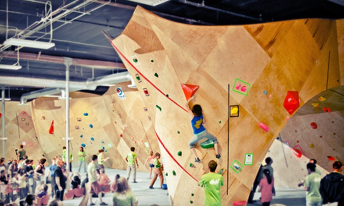 Rocks & Ropes and The Bloc climbing + fitness - Multiple Locations: Rock-Climbing Package at Rocks & Ropes and The Bloc climbing + fitness (Up to 52% Off). Two Options Available.