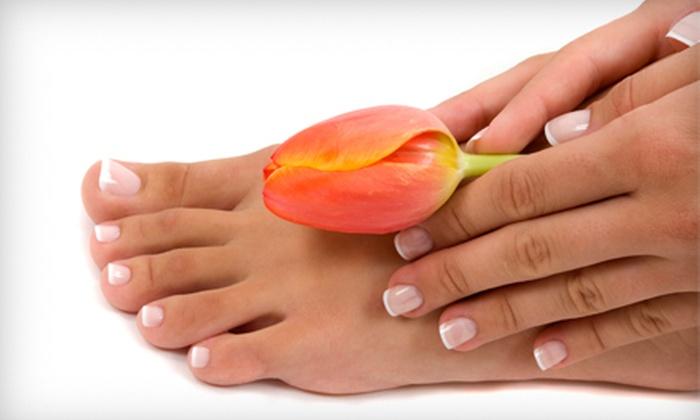 Bella Epique - The Museum District: Aromatherapy Mani-Pedi with Foot Scrub or Shellac Mani-Pedi with Foot Scrub at Bella Epique (Up to 55% Off)