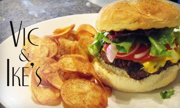 Vic & Ike's - Downtown: $15 for $30 Worth of American Cuisine and Drinks at Vic & Ike's