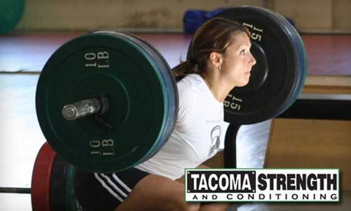 Tacoma Strength - Multiple Locations: $49 for One Month of Unlimited Classes at Tacoma Strength or Crossfit Tacoma ($150 Value)
