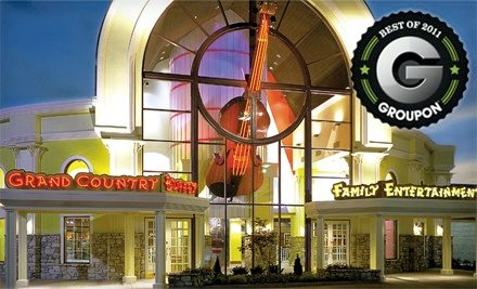 1-Night Stay for 2, Buffet Dinner with Drinks for 2, 2 Tickets to Choice of 2 Shows, and 2 Mini-Golf Passes - Grand Country Inn in Branson