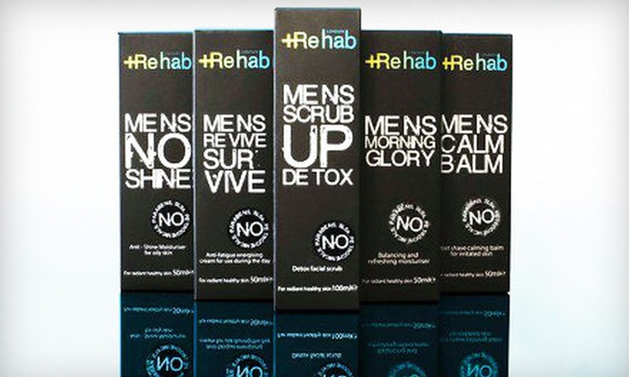 Rehab London: $75 for a Package of Five Men's Skincare Products with Shipping from Rehab London ($158.90 Value)