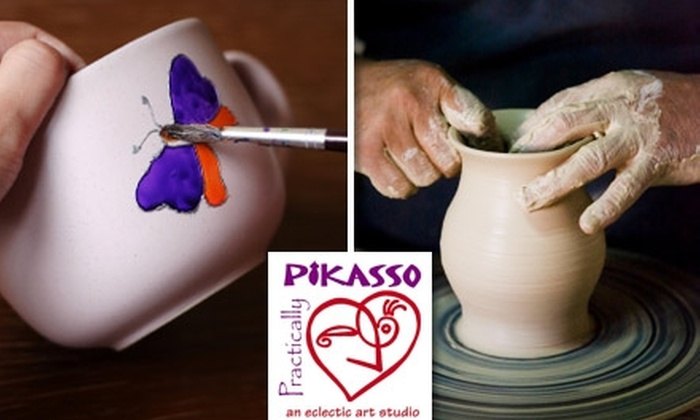 Practically Pikasso - Tampa Bay Area: $15 for $30 Worth of Pottery Painting, Wheel-Thrown Pottery, Classes & More at Practically Pikasso