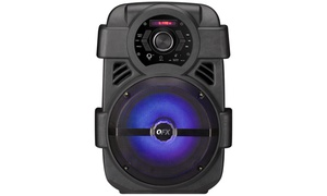 "QFX PBX-8 8"" Bluetooth Portable Party Speaker with FM, USB, and Lights"