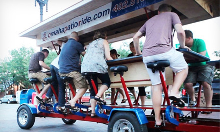 Omaha Patio Ride - Omaha: Pub-Crawl for Two, Four, or Six from Omaha Patio Ride (Up to 57% Off). Five Options Available.