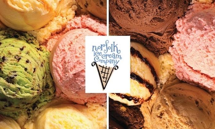 Norfolk Ice Cream Company - Highland Park: $4 for $9 Worth of Ice Cream and Treats at Norfolk Ice Cream Company