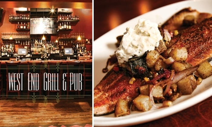 West End Grill and Pub - Central West End: $15 for $35 Worth of Food and Drinks at West End Grill and Pub