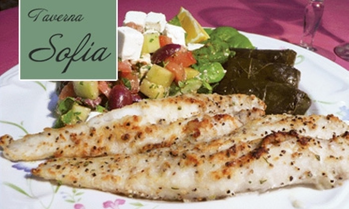 Taverna Sofia - Astoria: $12 for $25 Worth of Authentic Greek Fare, Rich Desserts, Drinks, and More at Taverna Sofia