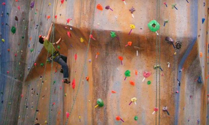 The Edge Halfmoon - Halfmoon: Two or Five Climbing Day Passes with Belay Class and Gear Rental at The Edge Halfmoon (Up to Half Off)