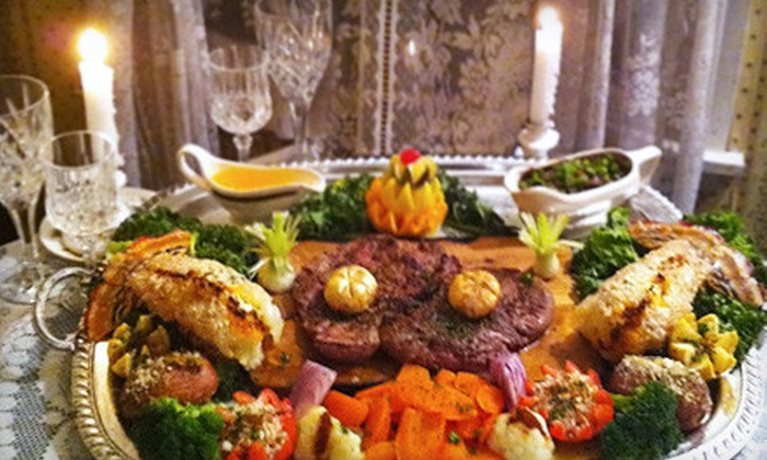The Emerald Restaurant - Bee Cave: $59 for a Prix Fixe Irish Chateaubriand Dinner for Two at The Emerald Restaurant ($175.50 Value)