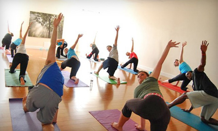 Om Yoga - Fort Mill: $50 for Eight Yoga Classes at Om Yoga in Fort Mill (Up to $100 Value)